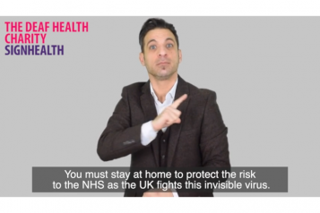 Sign Health translated information - still image of video