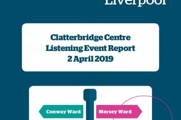 Image of front cover of Clatterbridge Centre listening event report 2019