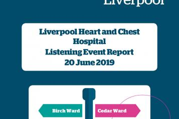 Image of front cover of Liverpool Heart and Chest Hospital 2019 Report