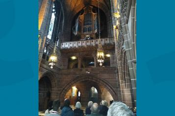 Musical performance in the Lady Chapel of Liverpool Cathedral