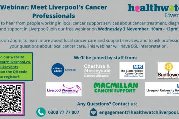 Webinar: Meet Liverpool's Cancer Professionals poster