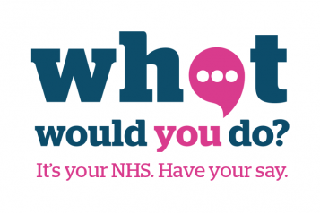 what would you do logo with text: What would you do? It's your NHS. Have your say.