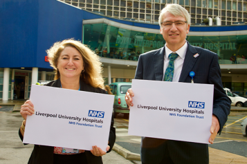 Sue Musson, chair and Steve Warburton, Chief Executive of Liverpool University Hospitals NHS Trust
