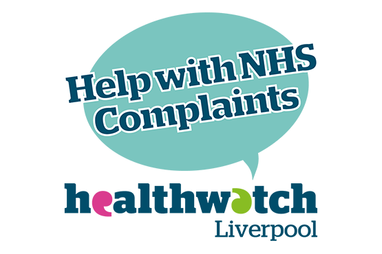 Image of Healthwatch Liverpool Help with NHS complaints logo