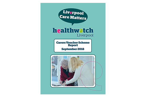 image of front cover of Carers Voucher Survey Report