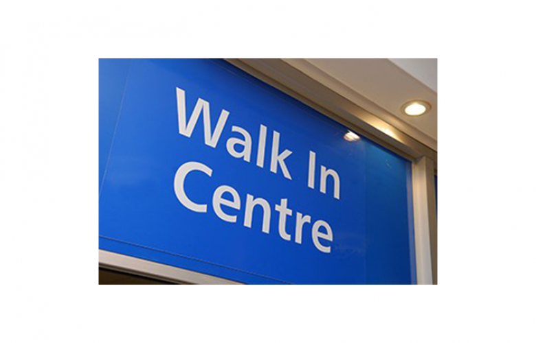 Image of walk-in centre signage