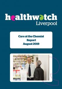 Image of front cover of the Care at the Chemist report