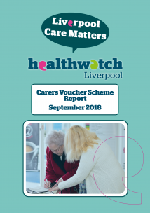 Front Cover of Carers Voucher Scheme Report